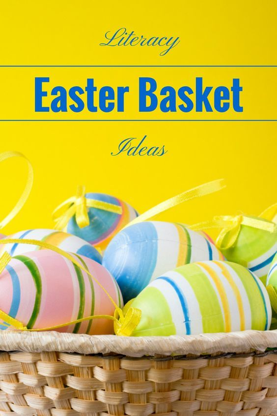 Literacy Inspired Easter Basket Ideas Babies Baskets
