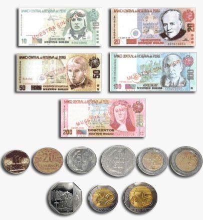 A.  Peru's currency is the Peruvian Nuevo Sol. One Peruvian Nuevo Sol is equal to .36 US dollars.