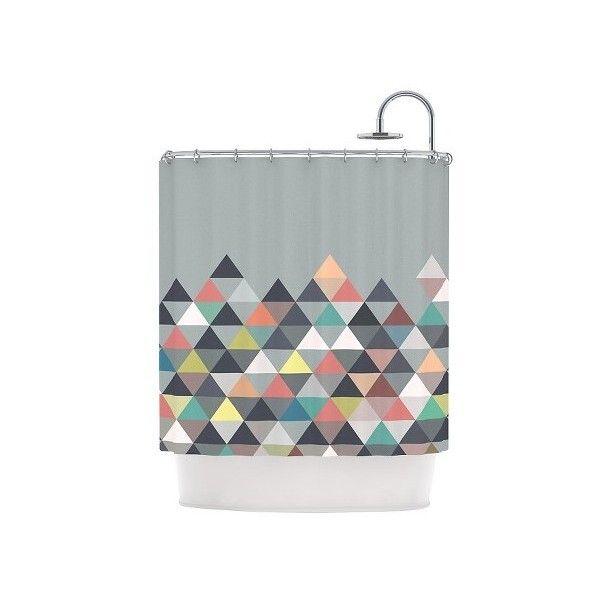 Kassatex Hampton Stripe Shower Curtain Grey 94 CAD Liked On Polyvore Featuring Home Best 25 Gray Curtains Ideas Pinterest Bath Surround