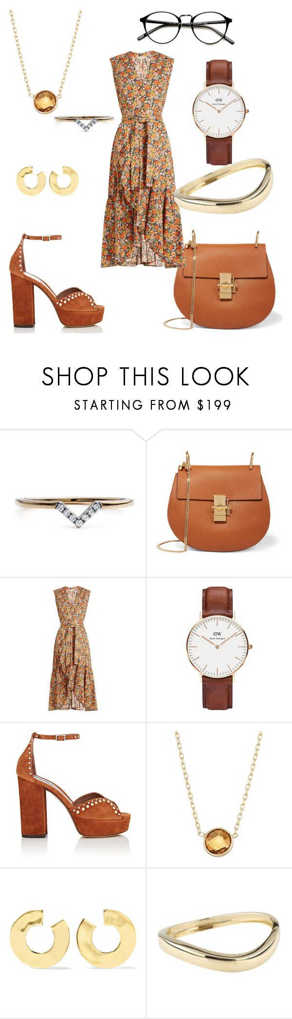 """""""Untitled #272"""" by cool-rusti on Polyvore featuring Diamonds Unleashed, Chloé, Rebecca Taylor, Daniel Wellington, Tabitha Simmons and Chaumet"""