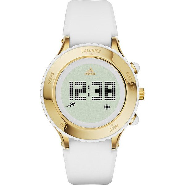 adidas originals Watches Urban Runner Digital Silicone Watch Women's (200 CAD) ❤ liked on Polyvore featuring jewelry, watches, fashion accessories, white, white watches, digital wrist watch, digital wristwatch, white silicone watches and silicone jewelry