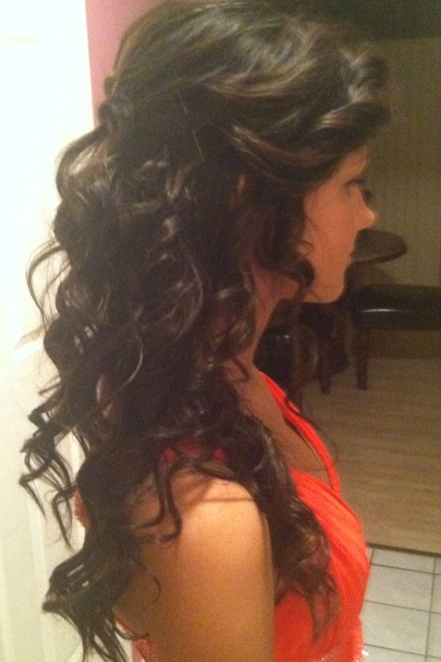 Pretty Ringlets With Half Up Twist.. cute for formal stuff.