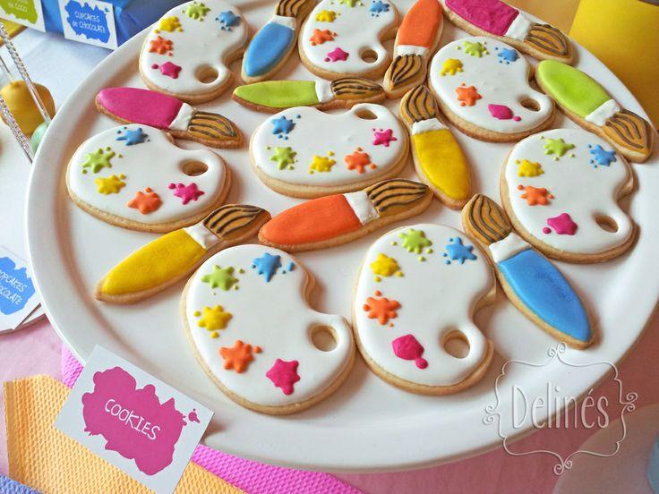 cookies paleta de pintor