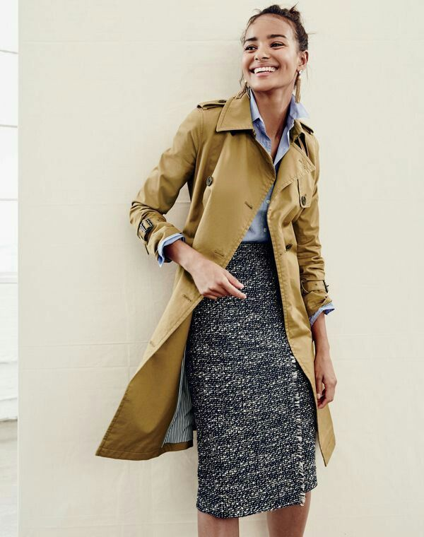 tweed skirt perfect for cooler weather