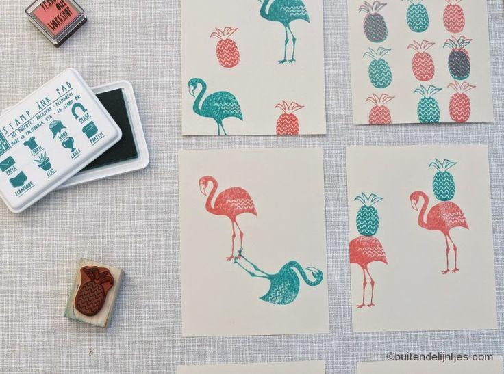 We hebben weer een leuke tutorial voor je.  Deze keer laten we zien hoe je kunt stempelen op textiel.       De stempelkussens van Yellow Owl...