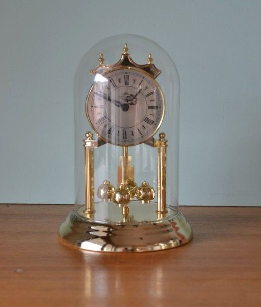 Vintage Nationwide dome clock rotating Pendulum