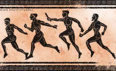 Los griegos conservaron por mucho tiempo el uso de los heraldos. Los había asimismo en los juegos olímpicos, los cuales se servían de la tuba o trompeta para la promulgación de los juegos, de los tratados y de los sacrificios. Más adelante solo se valían de la voz, escogiendo los que la tenían más sonora y fuerte porque tenían que proclamar las leyes de los juegos atléticos, los nombres de los combatientes, los de los vencedores y, en general, todas las órdenes de los jueces de los juegos.