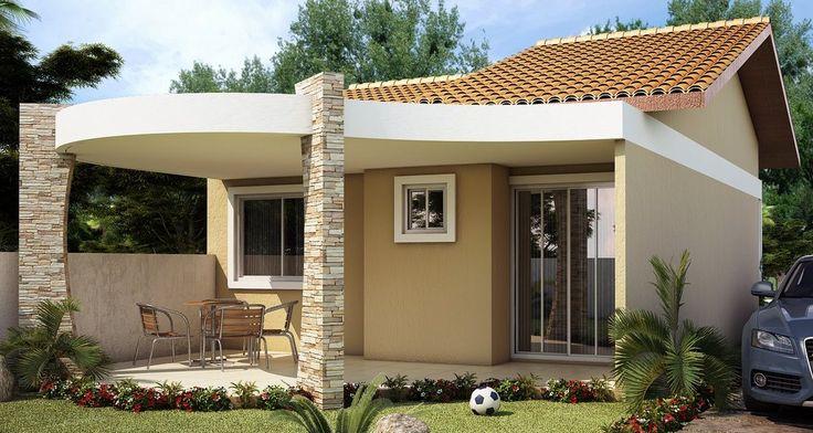 Fachadas de casas pequeñas modernas Más