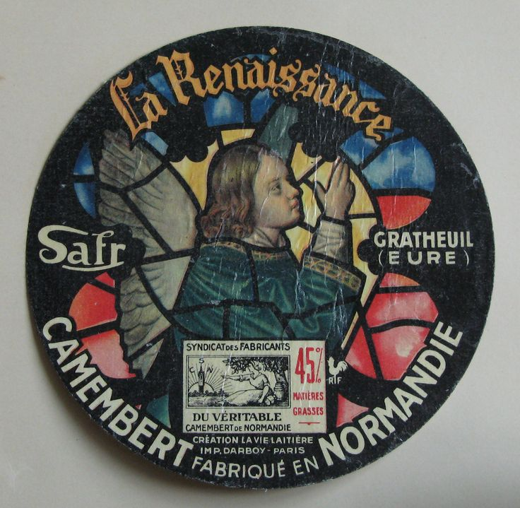 https://flic.kr/p/dJWGrb | Vintage Camembert Cheese Label. | The timespan of this collection is approx from 1930s to 1960s.