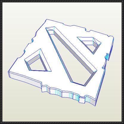 DotA 2 Logo Free Papercraft Download - http://www.papercraftsquare.com/dota-2-logo-free-papercraft-download.html