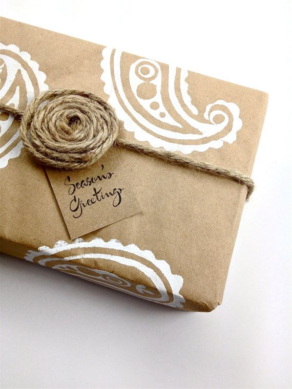 Paisley Wrapping Paper Gift Paper Hand