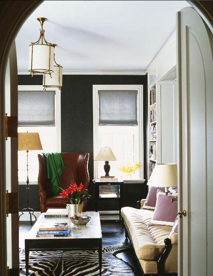 pattern simplified.: Interior Design, Decor, Nate Berkus, Living Rooms, Living Spaces, Berkus Design, Style, Livingroom, Black Wall