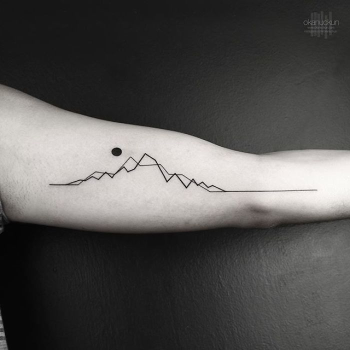 49 Amazing Geometric Tattoos By Turkish Artist Okan Uckun Minimalist Tattoo Mountain Range Tattoo Tattoo Designs Men