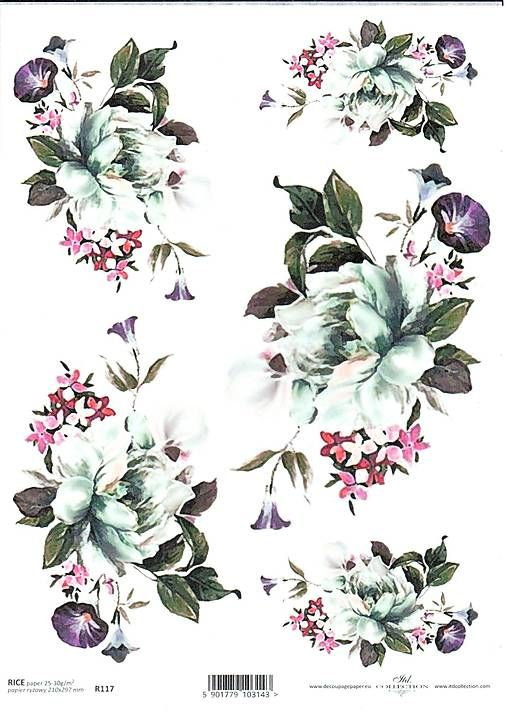 HaM / Ryžový papier Kvety 117