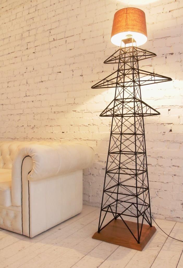 Transmission tower Floor Lamp - дизайнерский напольный светильник. Напольная лампа. Торшер. Лофт. Металлический светильник.