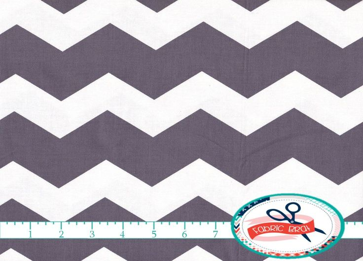 100% Cotton Quilting Fabric by the yard - LARGE GRAY CHEVRON Fabric Fat Quarter - Gray and White Chevron Fabric Yardage Woven Cotton a4-32