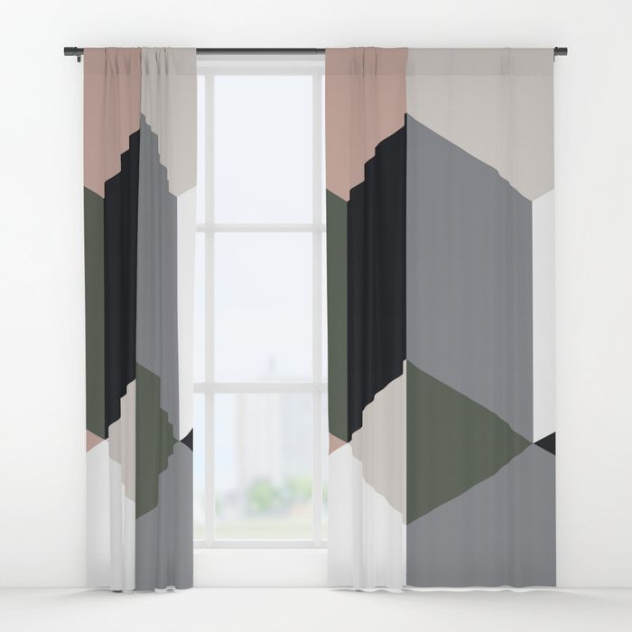 Buy Ruby Quatro Window Curtains by fimbis.       home decor, interiors, interior design, fashion, fashionista, geometric,