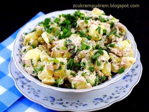 sałatka z tuńczykiem i ziemniakami