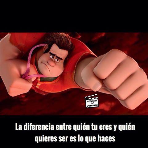 Ralph el Demoledor (Wreck-It Ralph, 2012)  #lecciondepelicula #pelicula #cine #moraleja #movie #frase #enseñanza #aprendizaje #motivacion #9gag #instagram #20may