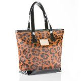 Tote Bag in Leopard Print Calf Hair and Patent Leather | Vancliffe Dean