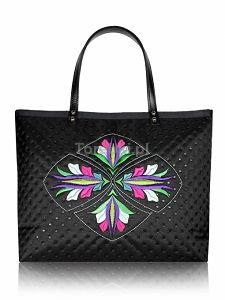 Pikowana torba na ramię z haftem DESTINY ---> www.torebki.pl/goshico-pikowana-torba-na-ramie-z-haftem-destiny.html