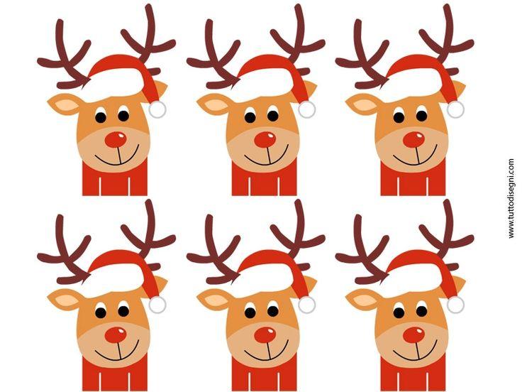 segnaposti natale renna karácsonyi ültetőkártyák Christmas reindeer placeholders