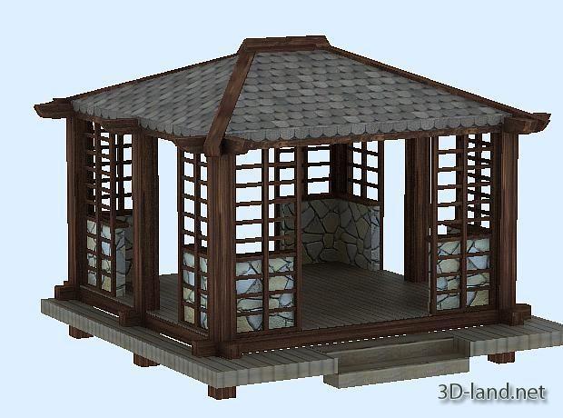 Classic japanese gazebo ideas home decoration ideas for Japanese style gazebo plans