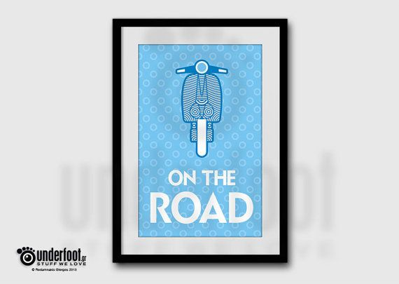Perfect gift for Lambretta & Vespa lovers  Dimensions: A3 (29,7 X 42cm) Professional high quality paper print. Matt or glossy lamination. Frame not included  * Colors may vary slightly from your monitor. *All artwork is original and may not be reproduced without permission. * © - underfoot.gr