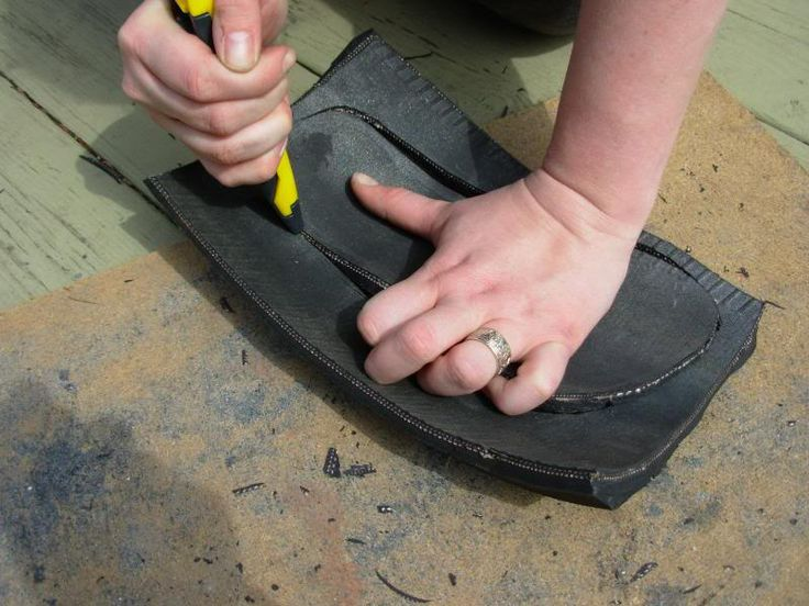 Tarahumara inspired recycled tire sandals - Simple Tutorial in General Primitive Skills Discussion Forum