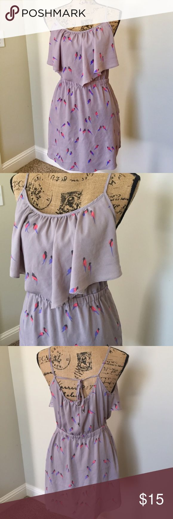 American Eagle AEO Bird Ruffle Dress American Eagle Outfitters dress with bird print. Gorgeous little piece and can be worn many ways. Size medium and in excellent condition with no flaws. ❌Trades/holds❌ I ship within 72 hours of your order. Poshmark rules only. Thank you for 👀! 🚭🐩 b1 American Eagle Outfitters Dresses Mini