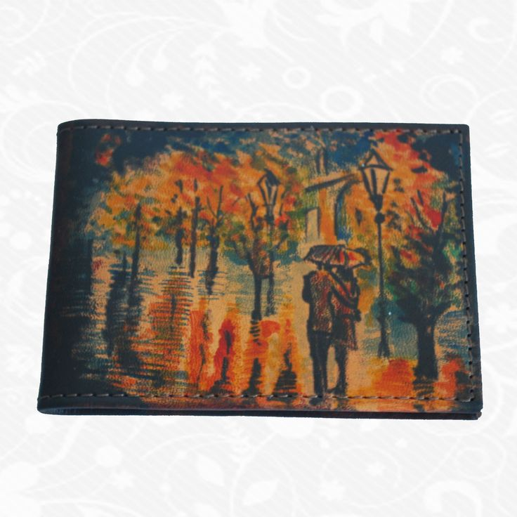 Feature: The nature   Original hand-painted business card holder made of genuine Italian leather. There is only one piece. Each piece is hand-painted work of art products. Business card is a beautiful unique original painting. http://www.vegalm.sk/produkt/rucne-malovany-vizitkar-c-50/