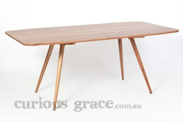 Sixties Modern Dining Table in Australian Messmate