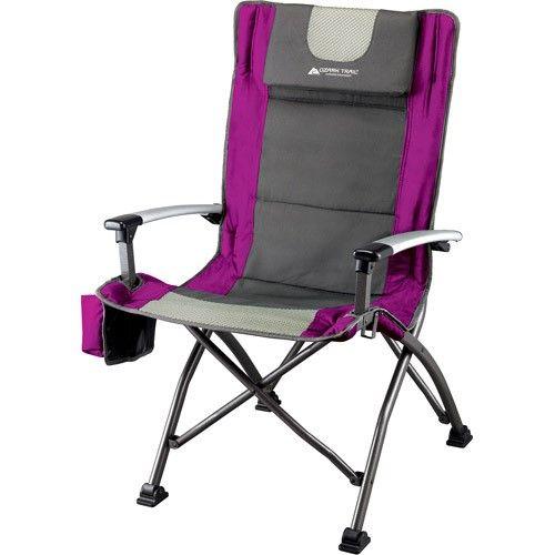 Ozark Trail High Back Chair with Head Rest Fuchsia Pink