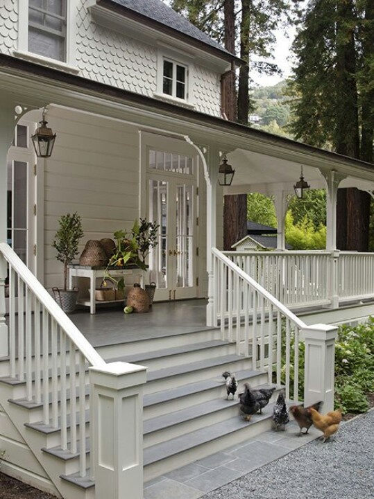 Like the big front porch, French doors & upper scallop shingles.