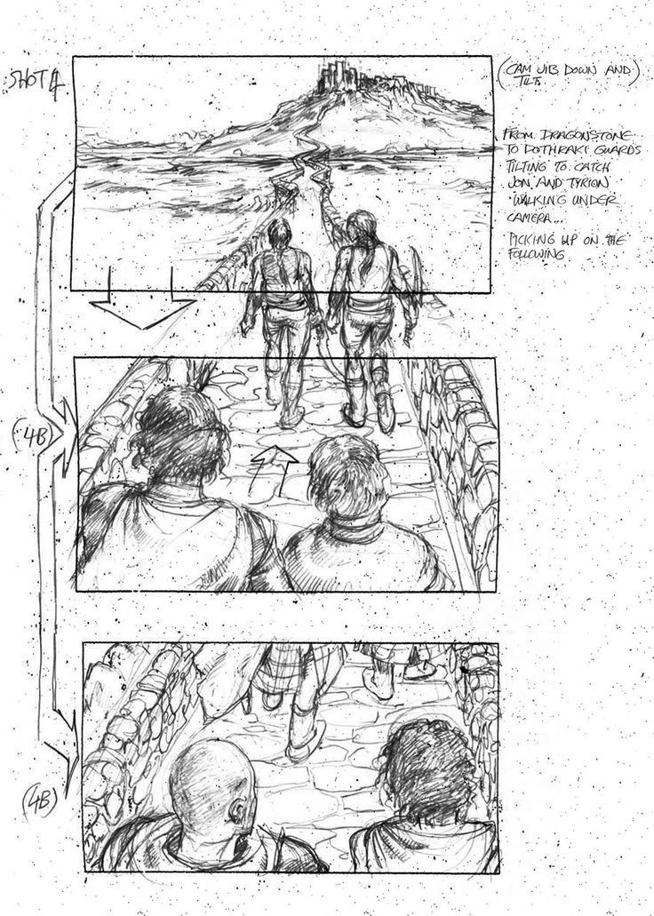 See a Storyboard of Jon's Shocking Moment at Dragonstone