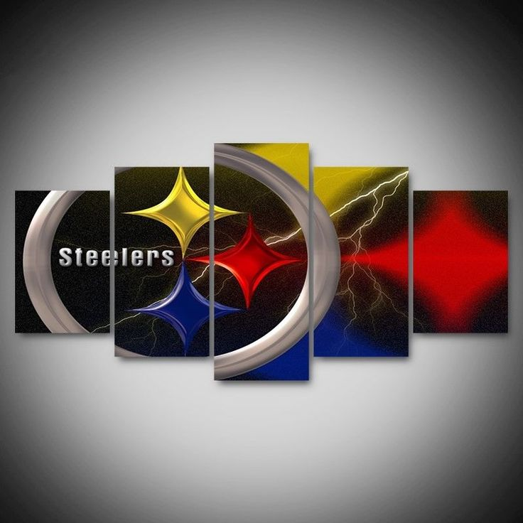 Canvas Wall Art Pittsburgh Steelers Football team 5pcs Painting HD Poster Decor #Unbranded #PittsburghSteelers