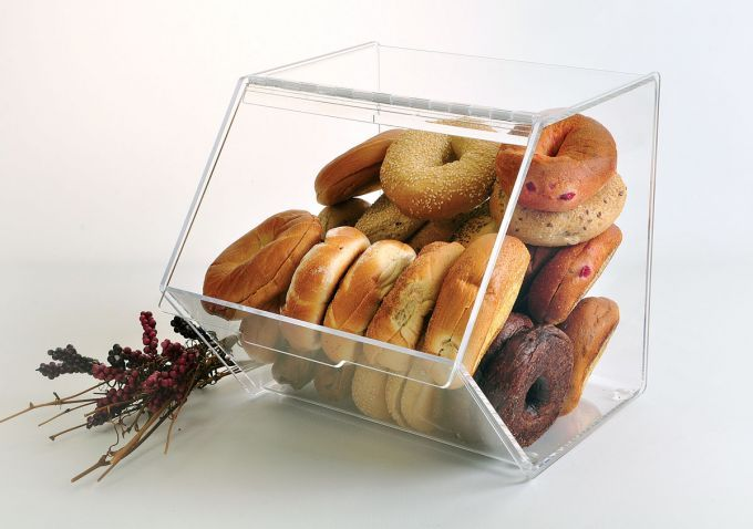 Large Bins hold dozens of bagels and keep them fresh.