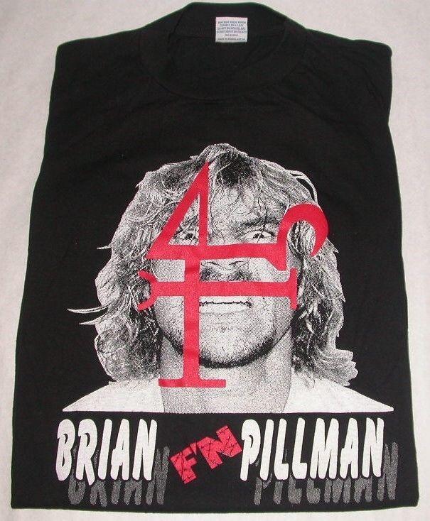 Rare Unworn Brian Pillman ECW Wrestling T-Shirt XL - F'n Pillman Rouge Horseman #ECW #wrestling