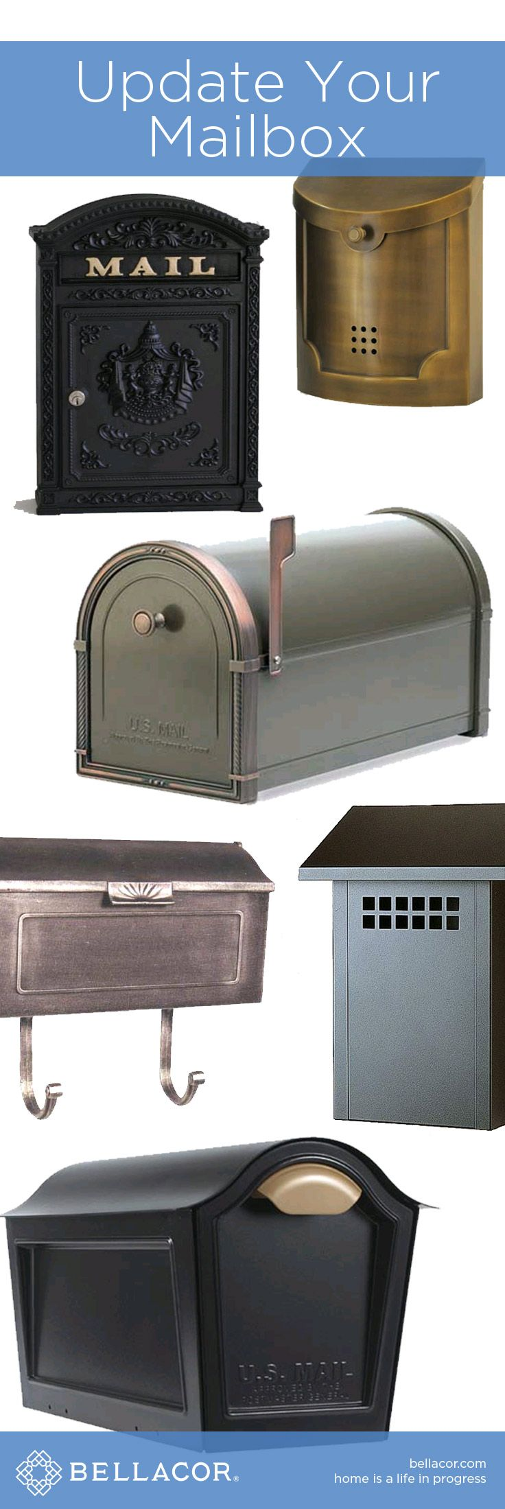Update Your Mailbox for Ultimate Curb Appeal! Shop http://www.bellacor.com/