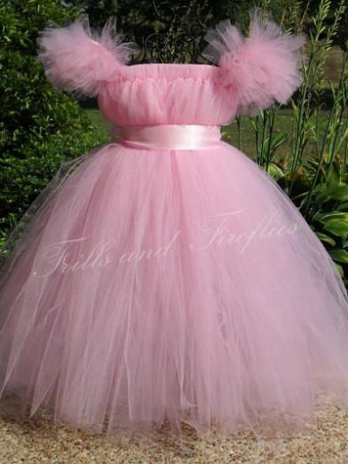 Pink Belle Tutu Dress Costume/Flower Girl Dress/Sleeping Beauty Tutu Dress Costume... Can be made in Other Colors