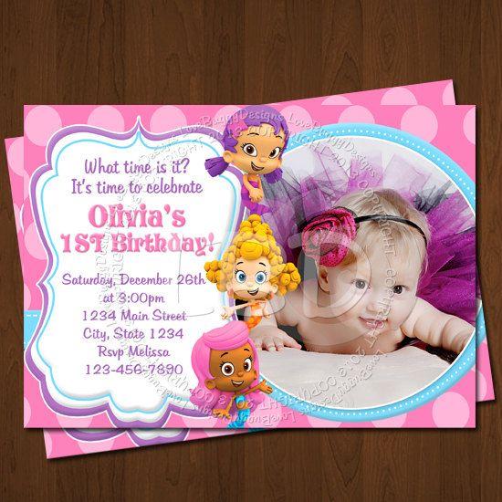 Bubble Guppies Invitation, Bubble Guppies Birthday Invitations, Photo Bubble Guppies Party Printables - YOU PRINT