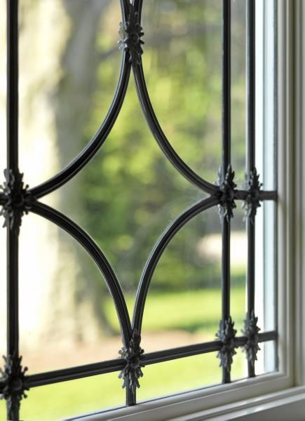 Beautiful detail of the leaded glass windows...