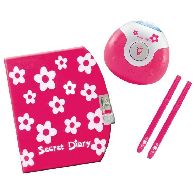 Geheim dagboek roze + onzichtbare inkt pennen