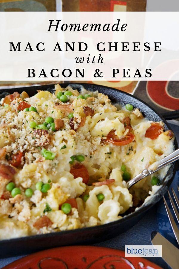 Bacon Tomato And Green Pea Mac N Cheese Recipe Food In 2019