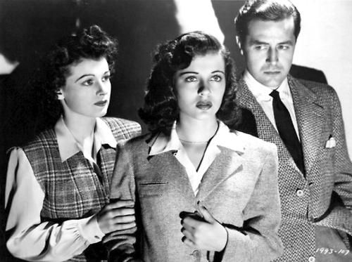 """Ruth Hussey, Gail Russell, Ray Milland - the stars of the spooky movie """"The Uninvited"""" (1944)."""