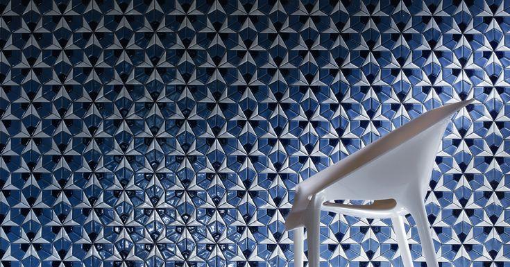 blue structural tiles