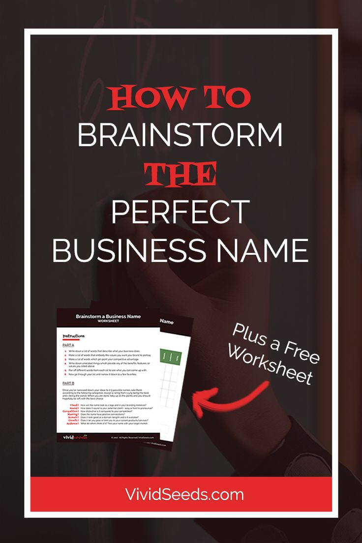 How to Name a Business | Actionable steps on how to brainstorm the perfect business name, so you can choose a business name with confidence. Click through to get a free brainstorming worksheet for naming your business.