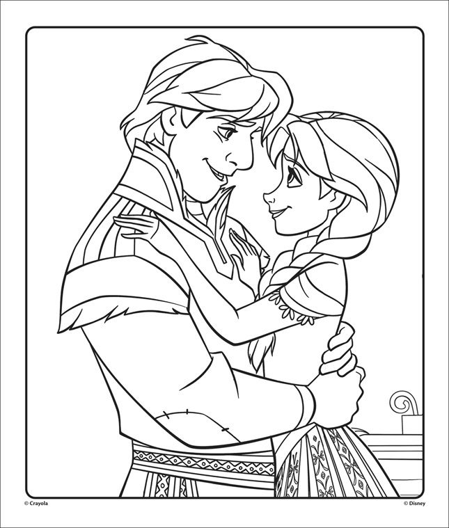 Fans Of The Disney Frozen Movies Can Color This Anna And Kristoff Coloring Page From Frozen Free Coloring Pages Disney Coloring Pages Christmas Coloring Pages