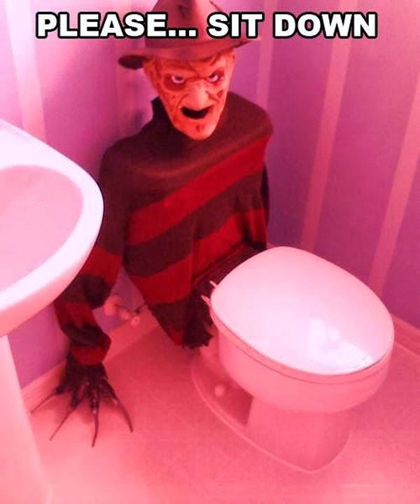Cool costume for your toilet :) #PinsByDennis