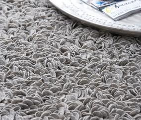 Vloerkleed: kleur en hoogpolig tapijt. Beide mooi